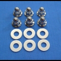HONDA TRX ATC 250R CYLINDER HEAD ACORN NUT WASHER 8MM 6PK NEW