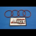 HONDA TRX ATC 250R BDT MOTORSPORTS BILLET EXHAUST FLANGE REPLACEMENT O-RING SET NEW