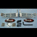 HONDA 1986-87 TRX250R BDT MOTORPSORTS BILLET FOOT PEG SET CLEAT DESIGN NEW