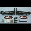 HONDA 1985-86 ATC250R BDT MOTORPSORTS BLACK BILLET FOOT PEG SET CLEAT DESIGN NEW