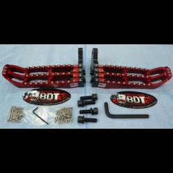 HONDA 1985-86 ATC250R BDT MOTORPSORTS RED BILLET FOOT PEG SET CLEAT DESIGN NEW
