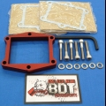 "HONDA TRX ATC 250R BDT 1/2"" BILLET REED SPACER PLATE KIT RED"