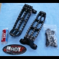 YAMAHA 2009-16 YFZ450R BDT MOTORSPORTS BLACK BILLET FOOT PEG SET CLEAT DESIGN
