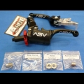ASV F3 SERIES SHORTY CLUTCH PERCH FRONT BRAKE LEVER PRO PACK BLACK