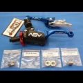 ASV F3 SERIES SHORTY CLUTCH PERCH FRONT BRAKE LEVER PRO PACK BLUE