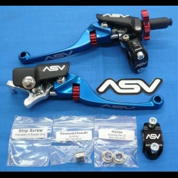 ASV F4 SERIES CLUTCH PERCH FRONT BRAKE LEVER BLUE NEW HOLIDAY PRO PACK