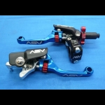ASV F4 SERIES CLUTCH PERCH FRONT BRAKE LEVER SHORTY BLUE NEW HOLIDAY PRO PACK