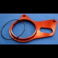 HONDA TRX ATC 250R BDT BILLET REAR BRAKE STAY PLATE 1986-89 RED
