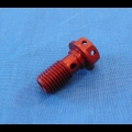 HONDA TRX ATC 250R BDT BILLET BANJO BOLT RED NEW