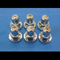 HONDA TRX ATC 250R BDT BILLET CYLINDER HEAD ACORN NUT 6PK TRIPLE CHROMED