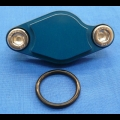 HONDA TRX ATC 250R BDT BILLET PARKING BRAKE BLOCK OFF PLATE BLUE