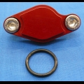 HONDA TRX ATC 250R BDT BILLET PARKING BRAKE BLOCK OFF PLATE RED