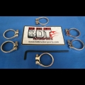 HONDA TRX250R BDT MOTORSPORTS BILLET RADIATOR HOSE CLAMPS CHROMED