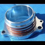 HONDA TRX ATC 250R BILLET EXHAUST FLANGE POLISHED