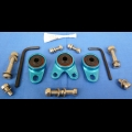 HONDA TRX ATC 250R BDT BILLET EXHAUST HANGER MOUNTS KIT BLUE