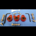 HONDA TRX ATC 250R BDT BILLET EXHAUST HANGER MOUNTS KIT RED