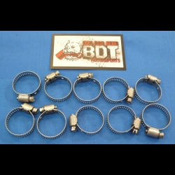 HONDA TRX ATC 250R STAINLESS STEEL RADIATOR HOSE CLAMPS 14-27MM