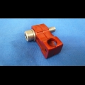 HONDA TRX ATC 250R BDT BILLET BRAKE LINE CLAMP RED