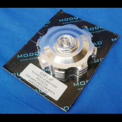 HONDA TRX250R MODQUAD 45° POLISHED GAS CAP W/ BREATHER VALVE 88-89