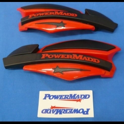 HONDA TRX ATC 250R POWERMADD ATV STAR SERIES HANDGUARDS RED