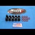 BDT MOTORSPORTS CYLINDER HEAD BILLET 8mm O-RINGED ACORN NUTS 10pk BLACK